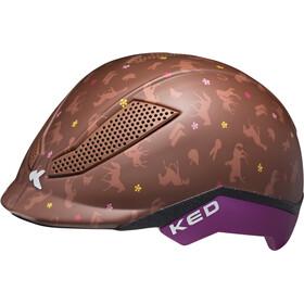 KED Pina - Casco de bicicleta Niños - marrón